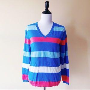 Tommy Hilfiger Large Sweater Light Blue Coral Pink